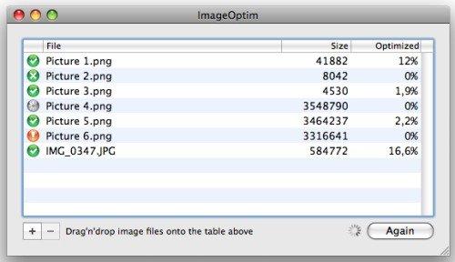 Afbeeldingen comprimeren met Image optim