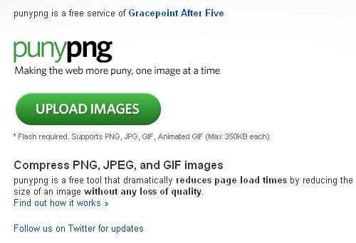 Afbeeldingen comprimeren met Puny PNG