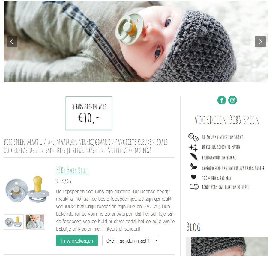 voorbeeld jouwweb webwinkel