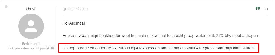 aliexpress gebruiker
