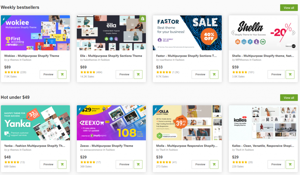 bestsellers themeforest templates