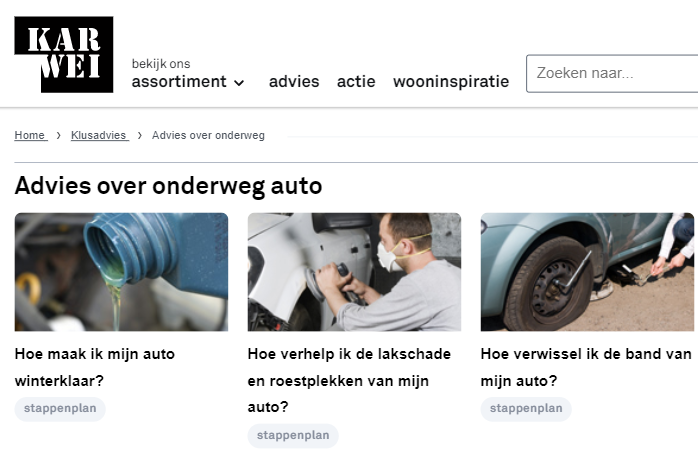 adviesgids kennisbank webshop voorbeeld