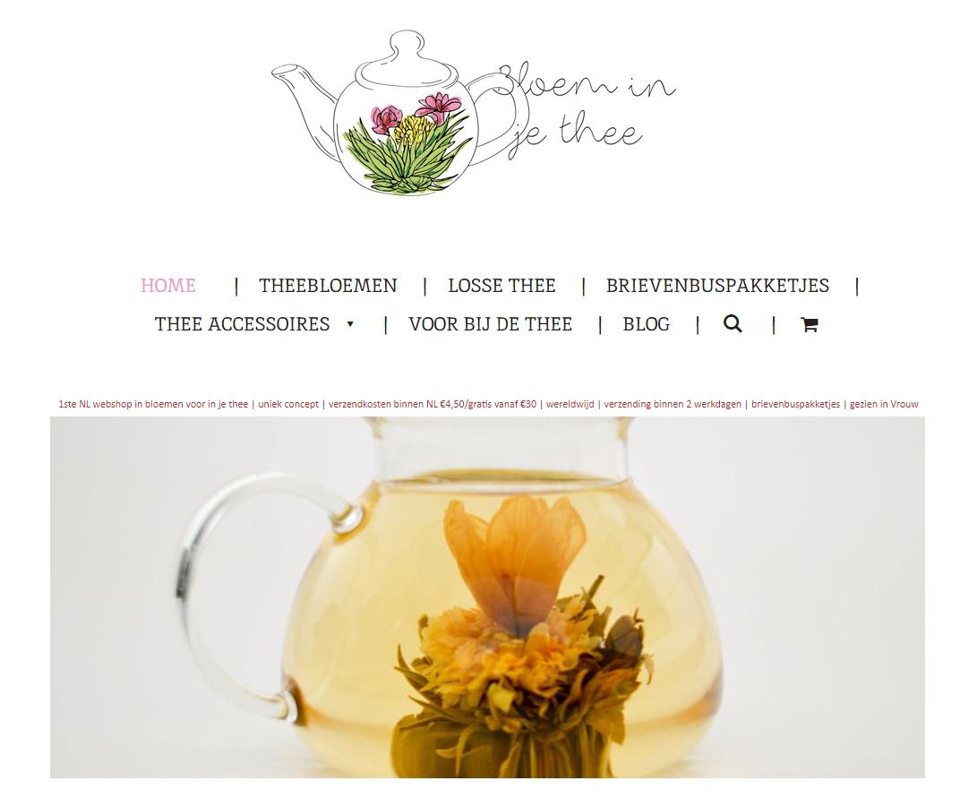 bloem in je thee