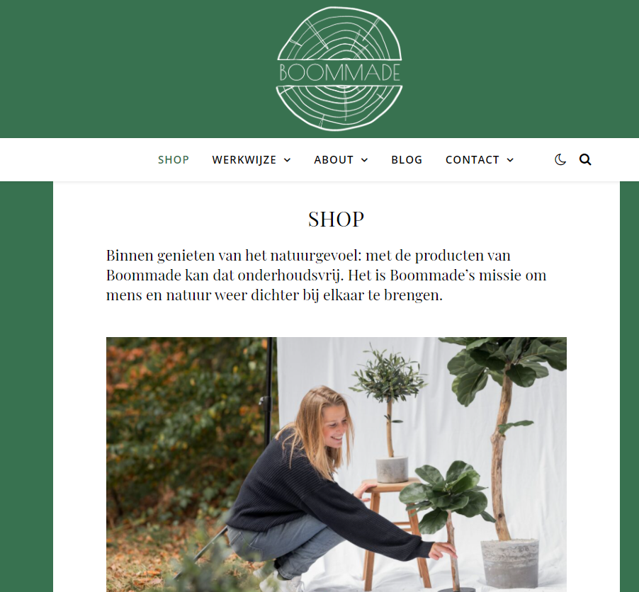 boommade webshop