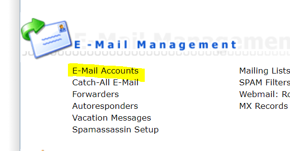 directadmin email